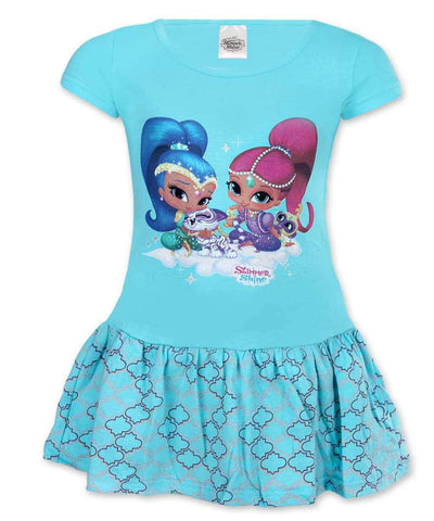 Girls Shimmer & Shine Costume Dress Age 2-6 Years