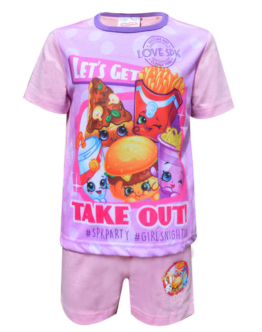 Official Girls Shopkins Sublimation Print Short Pyjamas Age 3 to 10 Years