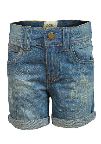 Girls Alive Turn Up Hem Denim Shorts 6 to 14 Years - Character Direct