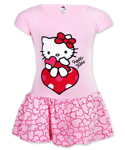 Girls Hello Kitty Costume Dress Age 2 to 6 Years - Character Direct