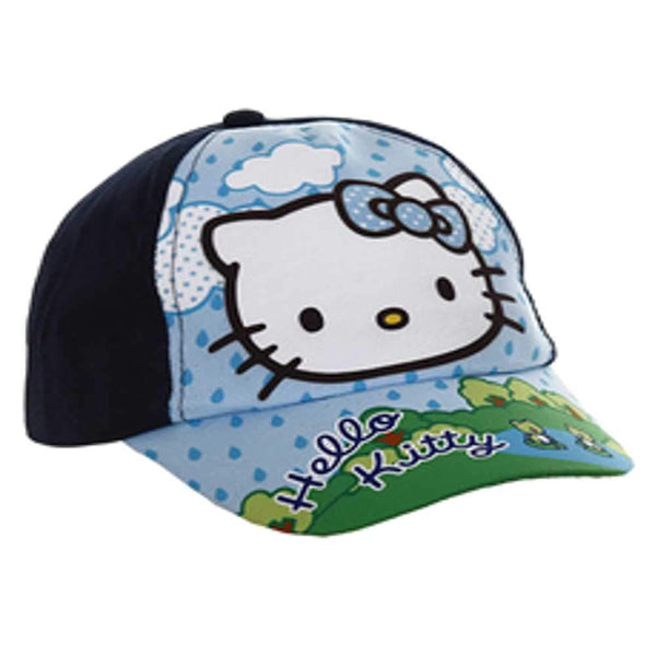 Sanrio Hello Kitty Girls Baseball Hat in Navy Age 1-7 Years - Character Direct