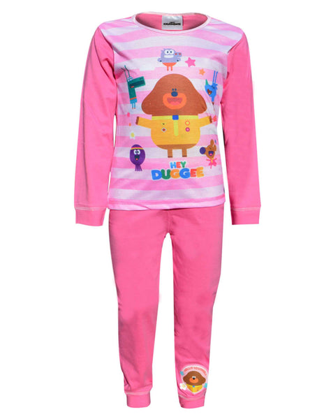 Girls Official Licensed Hey Duggee Snuggle Fit Long Pyjamas Age 1 to 5 Years - Character Direct