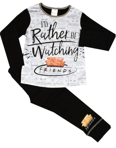 Girls Friends Pyjamas in Black