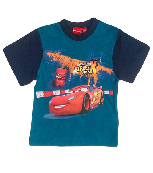 Disney Pixar Cars Boys Dark Blue Short Sleeve T-Shirt Top Age 2-8 Years - Character Direct