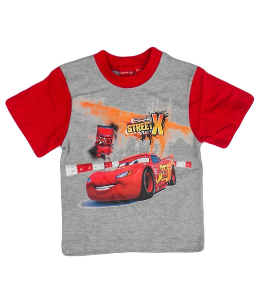 Disney Pixar Cars Boys Grey Red Short Sleeve T-Shirt Top Age 2-8 Years - Character Direct