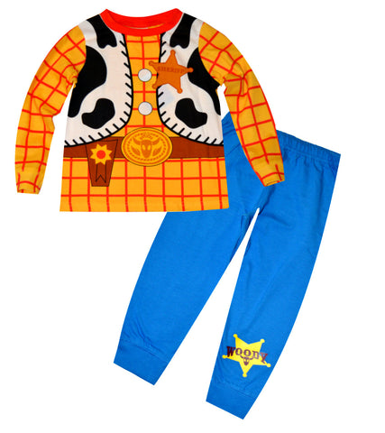 Disney Toy StoryBoys Woody Sheriff Costume Print Novelty Long Length Pyjama 1.5-6 Years - CharacterDirect