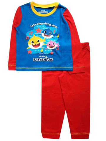 Kids Boys Girls Baby Shark Pyjamas - Character Direct