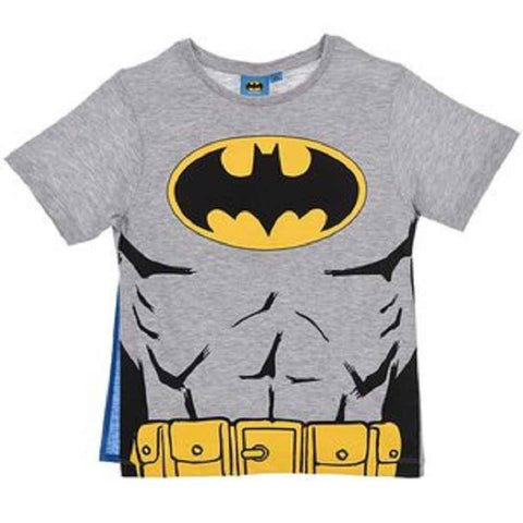 DC Comics Batman Boys Black Top With Cape T-Shirt Age 2 to 8 Years - Character Direct