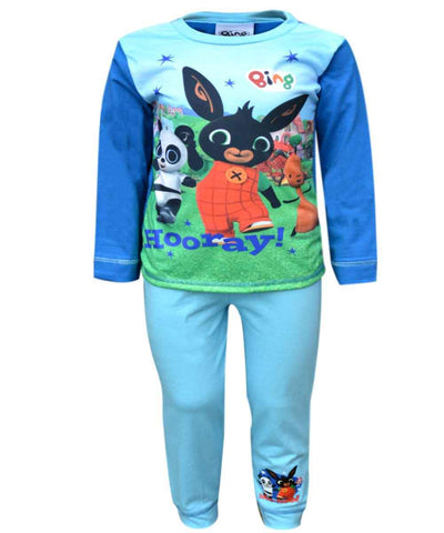 Boys Official Licensed Bing CBeebies Flop Hoppity Sula Long Length Pyjamas 1.5-5 Years - Character Direct