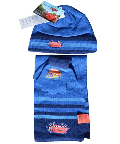 Official Boys Disney Cars Gloves , Beanie Hat & Scarf Set One size 3-7 Years - Character Direct