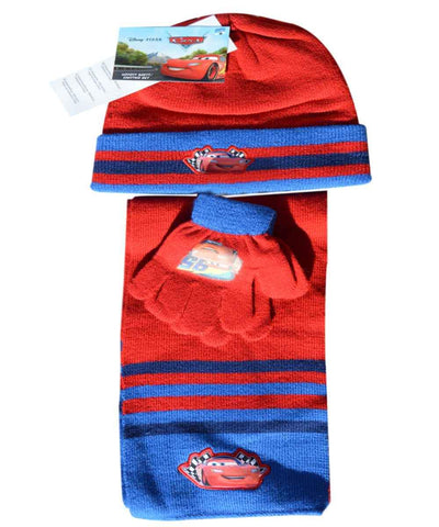 Official Boys Disney Cars Gloves , Beanie Hat & Scarf Set One size 3-7 Years