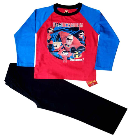 Official Licensed Boys Girls Incredibles 2 Cotton Pyjama Set Age 4 to 10 Years - Character Direct