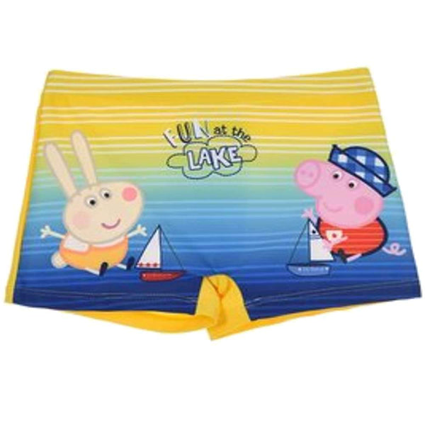 Kids Official Licensed Peppa Pig Captain George Print Swim Shorts Age 2 to 8 Years - Character Direct