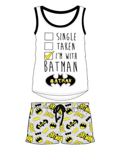 Ladies DC Comics Batgirl Short Pyjamas UK Size 8-22