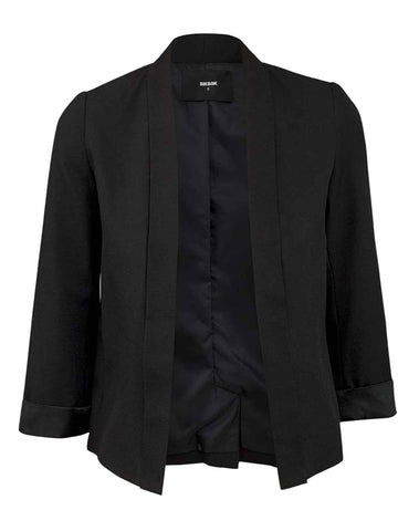 Ladies Open Front 3/4 Sleeve Blazer UK Size 6-12