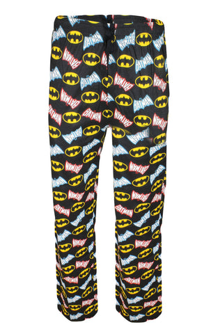 Mens Batman Print Cotton Lounge Pants Sizes S,M,L,XL - CharacterDirect - 1