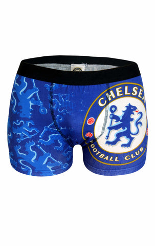 Mens Official Chelsea Football Club Printed Boxer Shorts Size S,M,L,XL - Character Direct