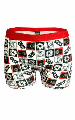 Mens Official Star Wars Printed Boxer Shorts Size S,M,L,XL - Character Direct
