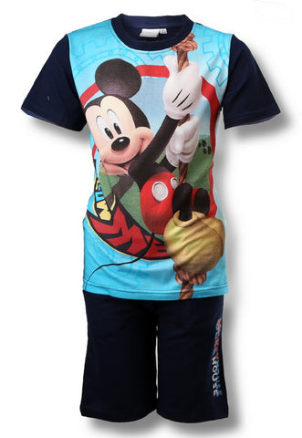 Official Boys Mickey Mouse Short Pyjamas 3-8 Years - Character Direct