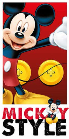 Kids Mickey Mouse Beach Towel - Character Direct