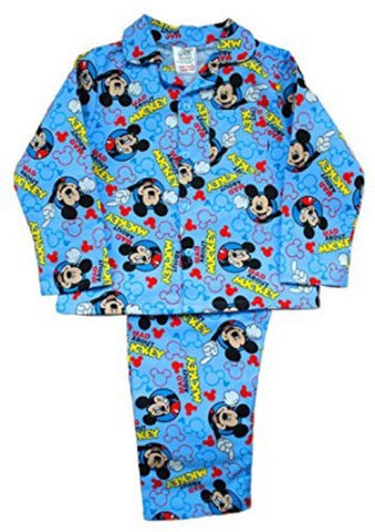 Boys Mickey Mouse Wincey Pyjama 12-18 Months - Character Direct