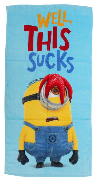 Kids Minions Beach Towel - Character Direct