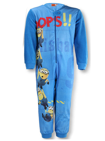 Boys Despicable Me Minions Polar Fleece Onesies 3 years up to 8 years - Character Direct