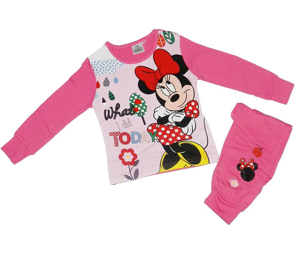 Girls Official Licensed Minnie Mouse Long Pyjamas Age 3 to 8 Years