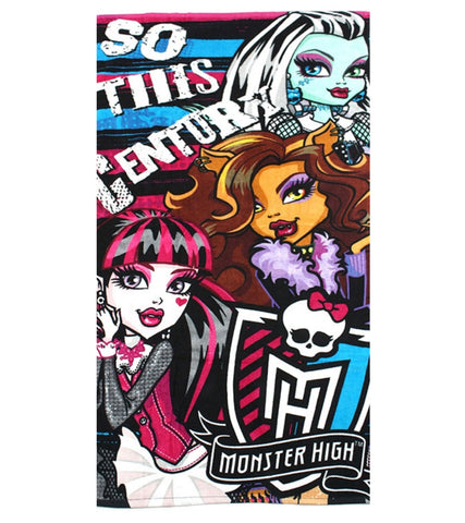 Kids Girls Monster High Beach Towel - Character Direct