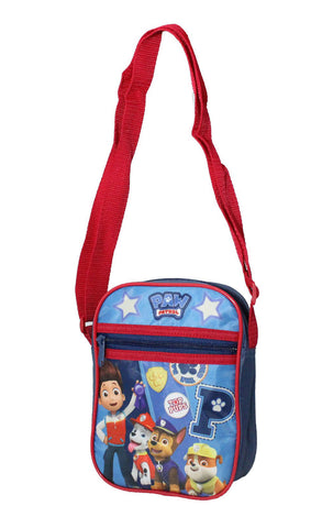Kids Boys Girls Paw Patrol Shoulder Bag Satchel in Red - CharacterDirect