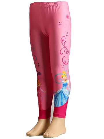 Disney Girls Kids Princess Pink Legging Age 2 Years - Character Direct