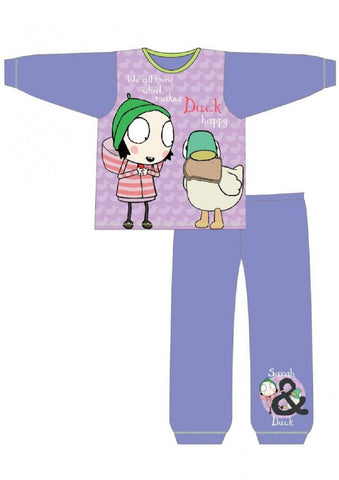 Girls Official Licensed Sarah & Duck Pyjamas