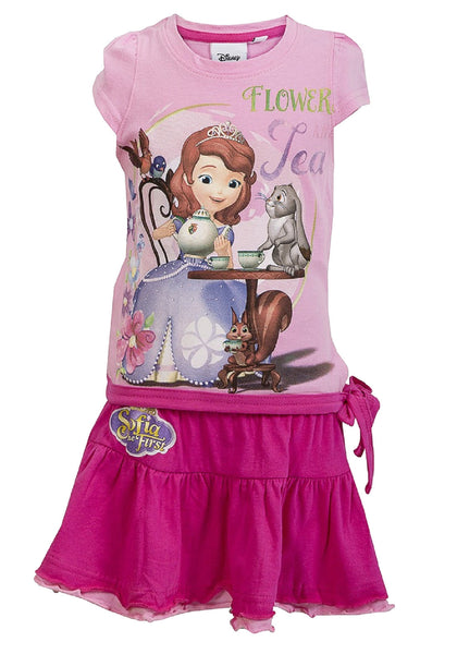 Disney Sofia the First Princess Girls Top and Skirt Set Age 2 to 6 Years - Character Direct