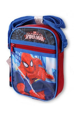 Kids Boys Girls Spiderman Shoulder Bag Satchel in Blue - CharacterDirect