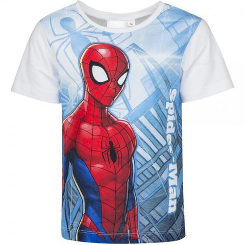 Marvel Spiderman Boys Short Long Sleeve T-Shirt Age 3-8 Years