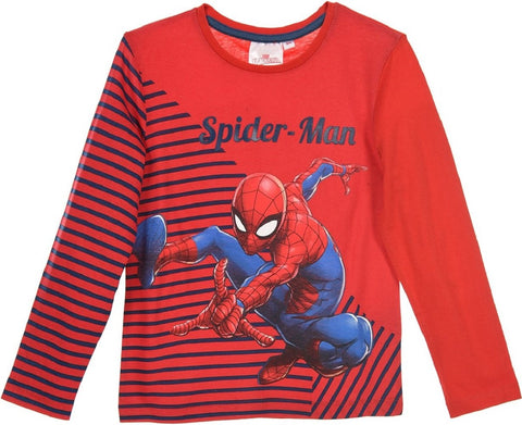 Marvel Spiderman Boys Short Long Sleeve T-Shirt Age 2-8 Years - Character Direct