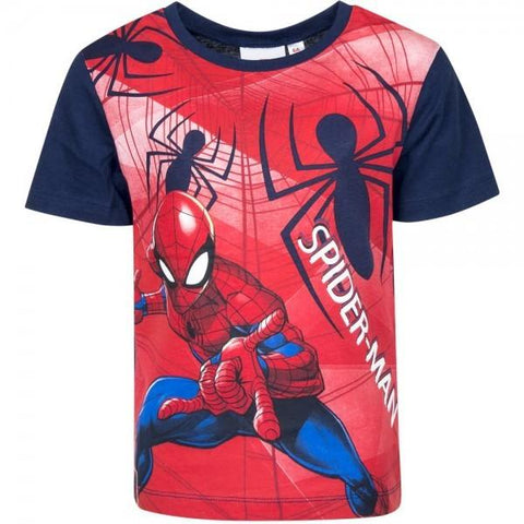 Marvel Spiderman Boys Short Long Sleeve T-Shirt Age 3-8 Years - Character Direct