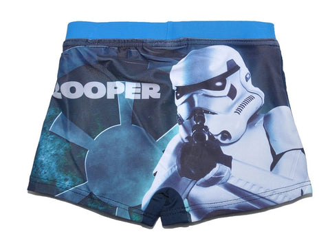 Boys Official Licensed Star Wars Print Swim Shorts Age 3 to 10 Years - Character Direct