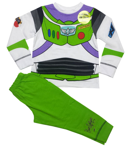 Disney Toy Story Glow in Dark Novelty Boys Long Length Pyjama - Character Direct