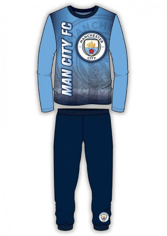 Boys Manchester City Long Length Pyjama 4 to 12 Years - Character Direct