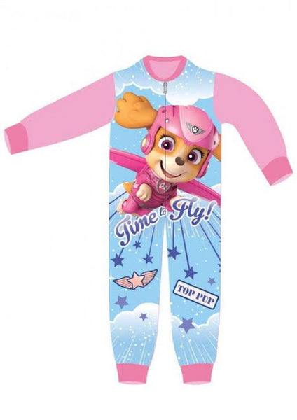 Girls Licensed Paw Patrol Skye Everest Print Micro Fleece Onesies Age 1 to 6 Years