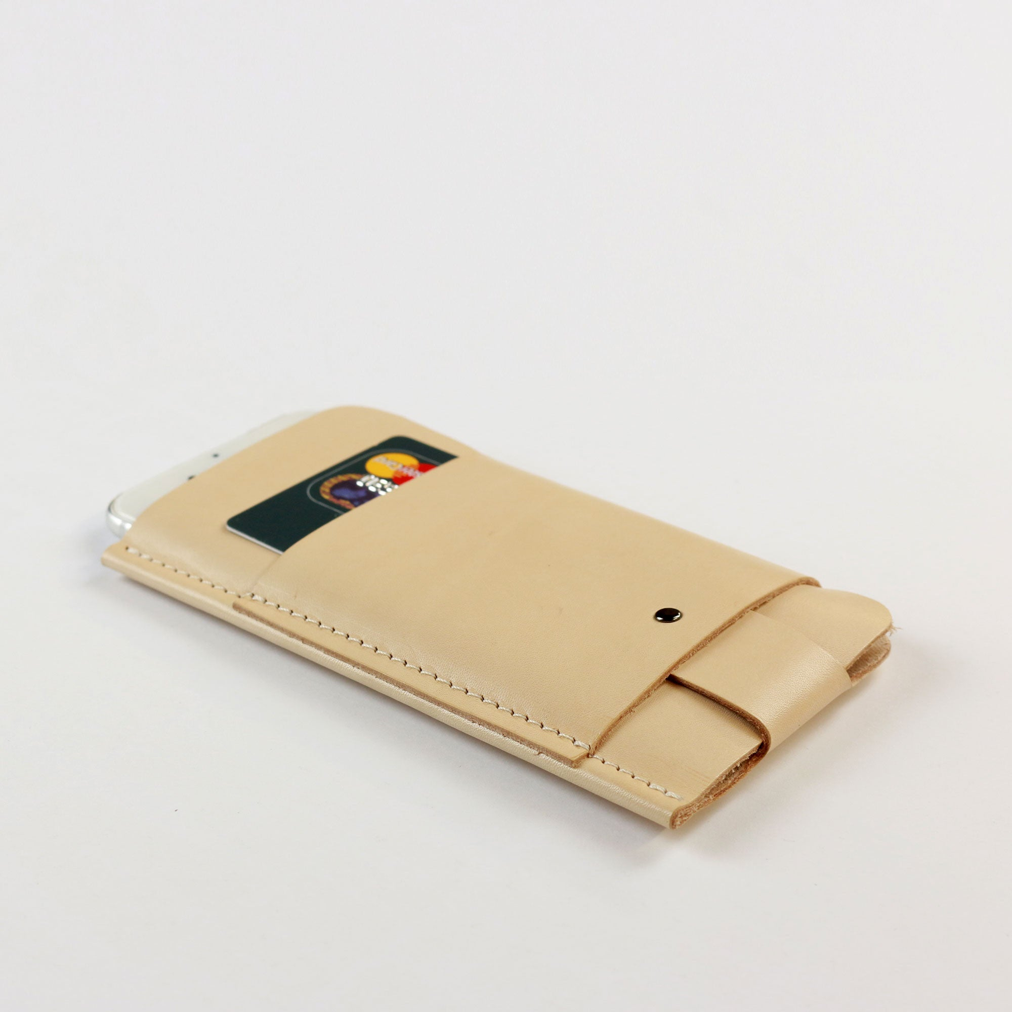 iPhone 5/5S/SE Slim Fit Hülle aus Leder Natur
