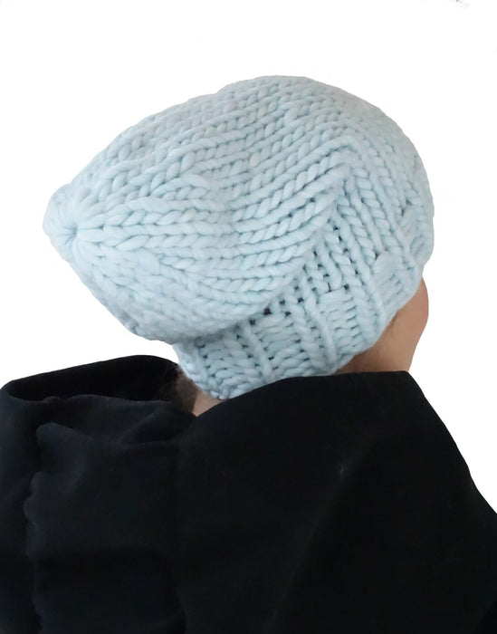 Flow Beanie in Ice Blue