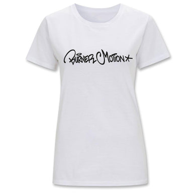 Ladies Burner Motion Tee white