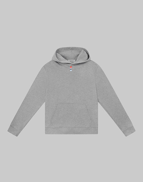 HERCULIE | Colour Patch Cropped Hoodie - Grey