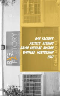 Bag Factory Artists' Studios David Koloane Award Writers' Mentorship