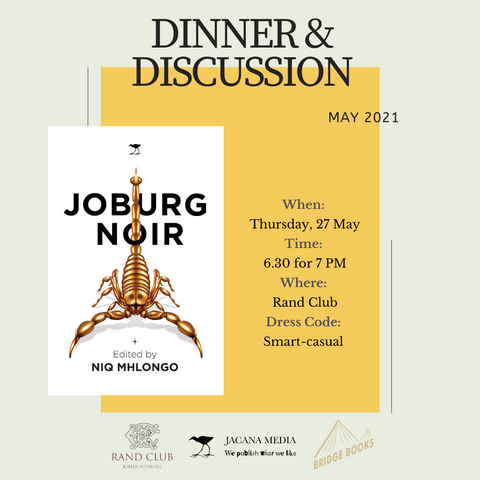 Joburg Noir: Book Club Dinner & Discussion (27 May)