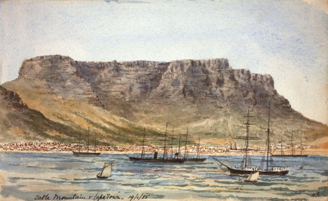 Cape Town 1902 Table Mountain small greeting card