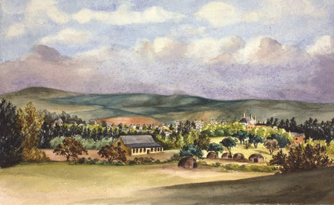 Grahamstown 1866 small greeting card