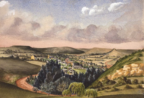 Grahamstown 1867 small greeting card